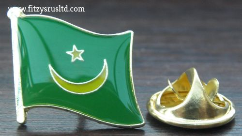 Mauritania Flag Lapel Hat Cap Tie Pin Badge Mauritanie Islamic Gift Souvenir New